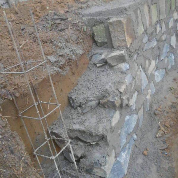 Mur de consolidation terminé…on est paré !!